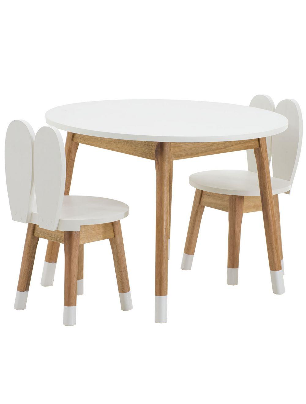 Image of: Conjunto Infantil Mesa Com Duas Cadeiras Coelho